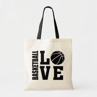 Bolso De Tela Amor del baloncesto, baloncesto