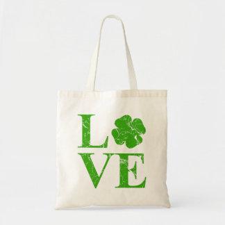Bolso De Tela Amor irlandés