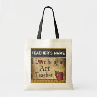 Bolso De Tela Amor que es un nombre del profesor de arte el |