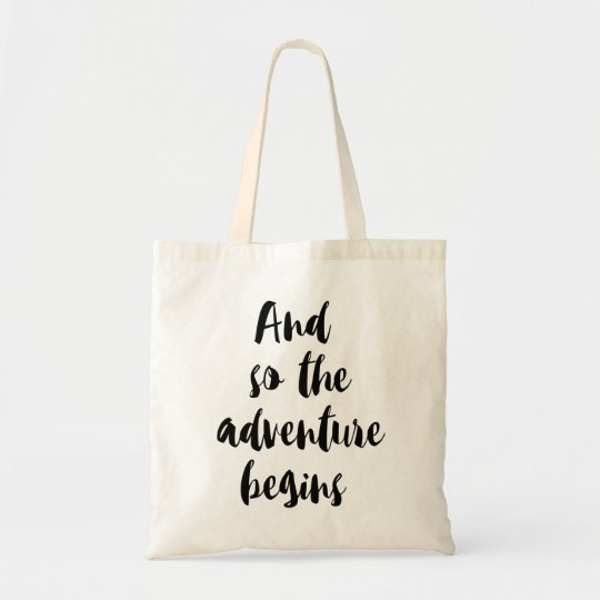 "Bolso De Tela ""And so the adventure begins"""