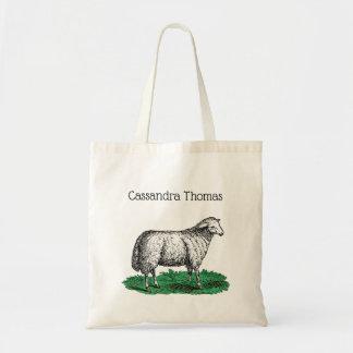 Bolso De Tela Animales del campo de la oveja de las ovejas del
