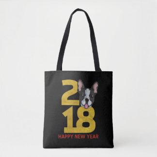 Bolso De Tela Año del terrier de Boston de la camisa del Año