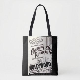 Bolso De Tela anuncio del restaurante del cabaret de Hollywood
