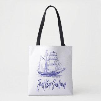 Bolso De Tela Apenas guarde el navegar