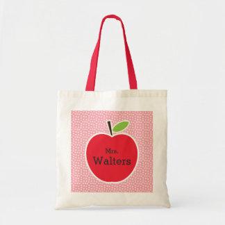 Bolso De Tela Apple del profesor personalizado