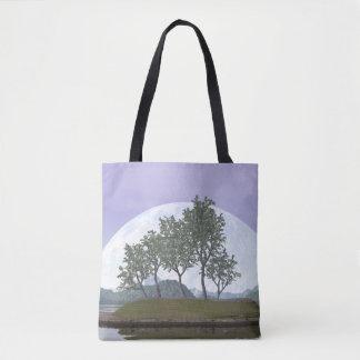 Bolso De Tela Árbol con hojas liso de los bonsais del olmo - 3D