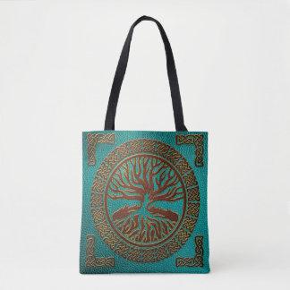 Bolso De Tela Árbol de la vida - Yggdrasil - imitación de cuero