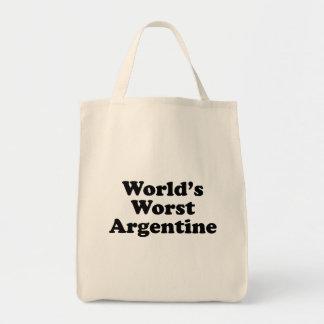 Bolso De Tela Argentina peor del mundo