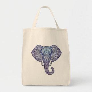 Bolso De Tela Arte del elefante de la alheña