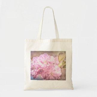 Bolso De Tela Arte floral de la mirada de la acuarela de la