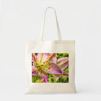 Bolso De Tela Arte floral de la mirada de la acuarela del lirio