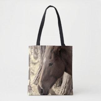 Bolso De Tela Ascendente cercano del caballo