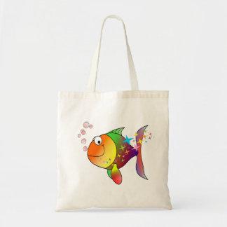 Bolso De Tela Atún del Océano Pacífico del multicolor del arco