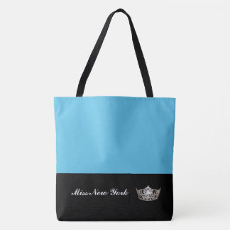 Bolso De Tela Azul Bolso-Grande del tote de plata de la corona