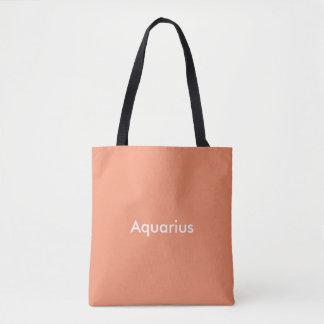 Bolso De Tela Bage del tote del zodiaco del acuario