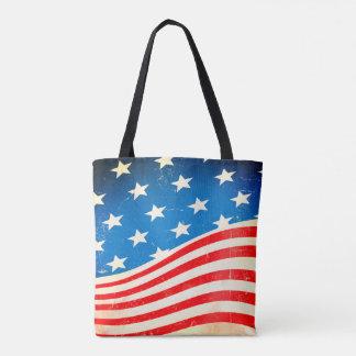 Bolso De Tela Bandera americana del vintage