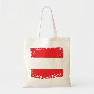 Bolso De Tela Bandera austríaca abstracta