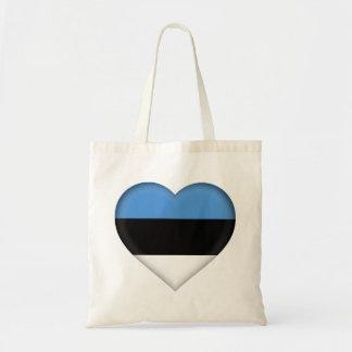 Bolso De Tela Bandera de Estonia