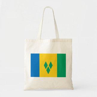 Bolso De Tela Bandera de San Vicente y las Granadinas