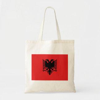 Bolso De Tela Bandera nacional del mundo de Albania