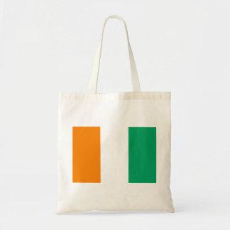 Bolso De Tela Bandera nacional del mundo de Costa de Marfil