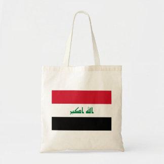 Bolso De Tela Bandera nacional del mundo de Iraq