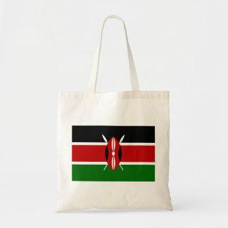 Bolso De Tela Bandera nacional del mundo de Kenia