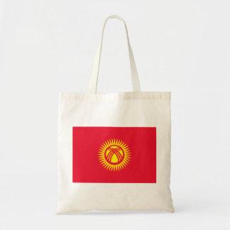 Bolso De Tela Bandera nacional del mundo de Kirguistán