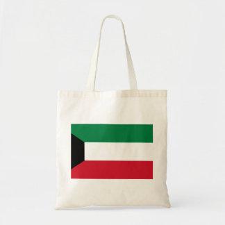 Bolso De Tela Bandera nacional del mundo de Kuwait