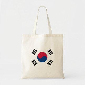 Bolso De Tela Bandera nacional del mundo de la Corea del Sur