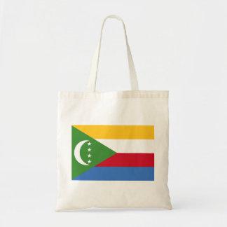 Bolso De Tela Bandera nacional del mundo de los Comoro