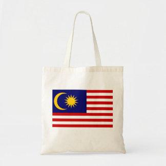 Bolso De Tela Bandera nacional del mundo de Malasia