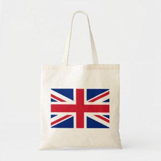 Bolso De Tela Bandera nacional del mundo de Reino Unido