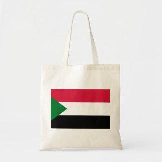Bolso De Tela Bandera nacional del mundo de Sudán