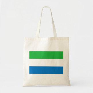Bolso De Tela Bandera nacional del mundo del Sierra Leone