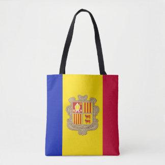 Bolso De Tela Bandera patriótica de Andorra
