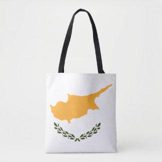 Bolso De Tela Bandera patriótica de Chipre