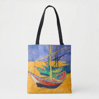 Bolso De Tela Barcos del impresionista de Van Gogh