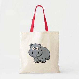 Bolso De Tela Bebé del hipopótamo
