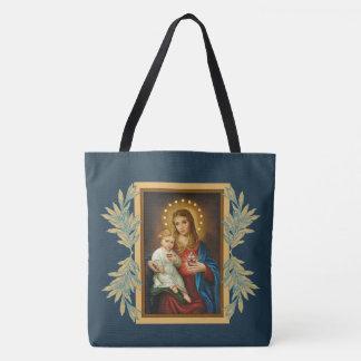 Bolso De Tela Bebé inmaculado y triste Jesús de Maria del