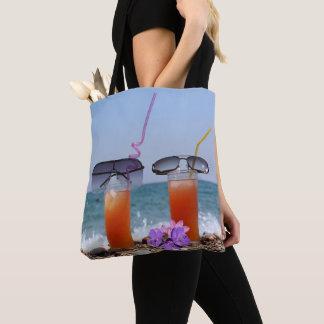 Bolso De Tela Bebidas y gafas de sol POR la playa