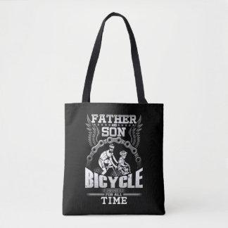 Bolso De Tela Bicicleta del hijo del padre