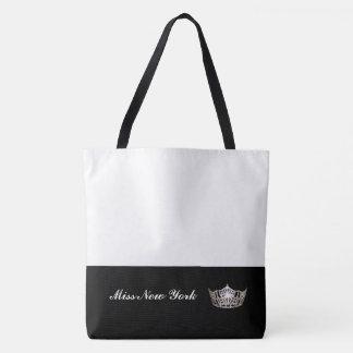 Bolso De Tela Blanco Bolso-Grande del tote de plata de la corona