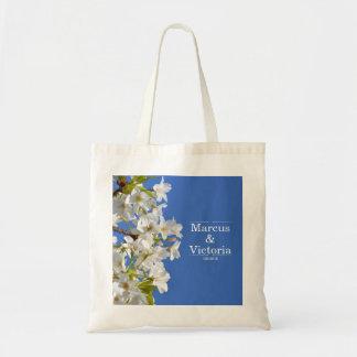 Bolso De Tela Boda de la flor de cerezo de la primavera