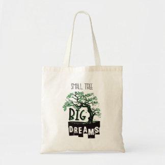 Bolso De Tela Bonsais - sueños grandes del pequeño árbol