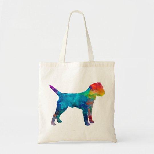 Bolso De Tela Border Terrier in watercolor