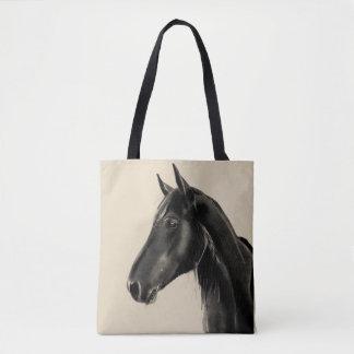 Bolso De Tela Bosquejo animal equino nacional del retrato del