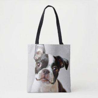 Bolso De Tela Boston Terrier