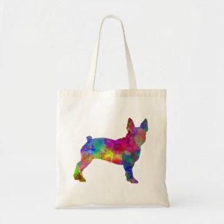Bolso De Tela Boston Terrier 01 in watercolor