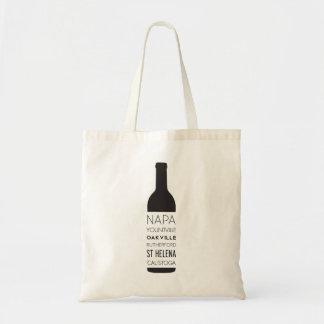 Bolso De Tela Botella de vino de las ciudades de Napa Valley